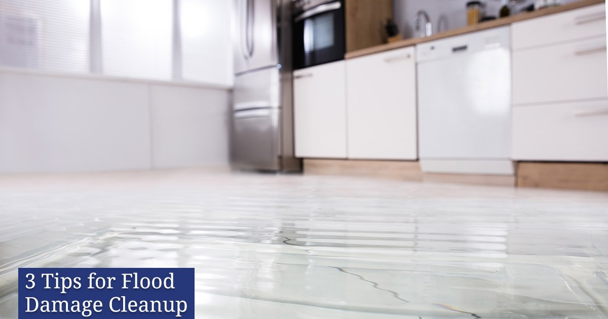 3 Tips for Flood Damage Cleanup
