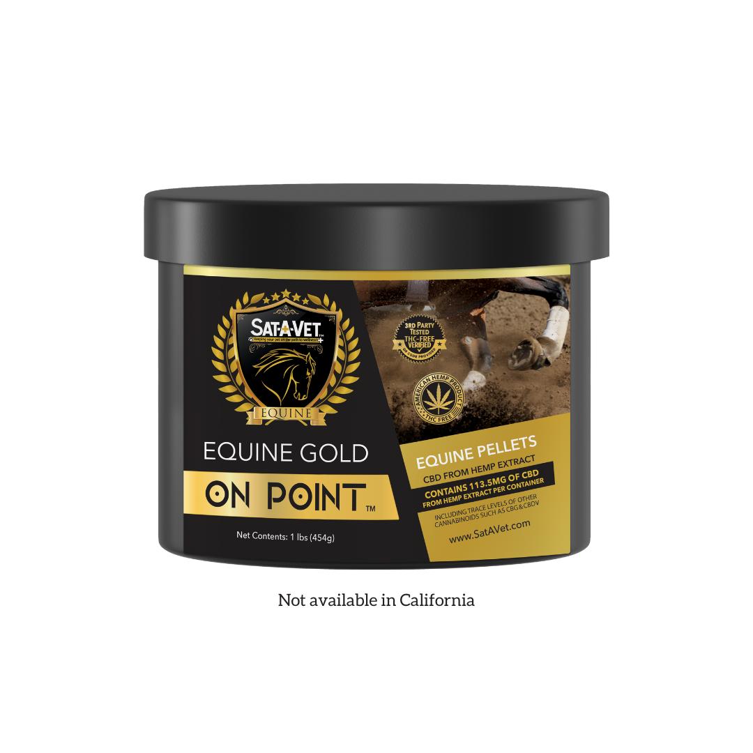 Sat-A-Vet™ Gold On Point Hemp Horse Pellets 1lb