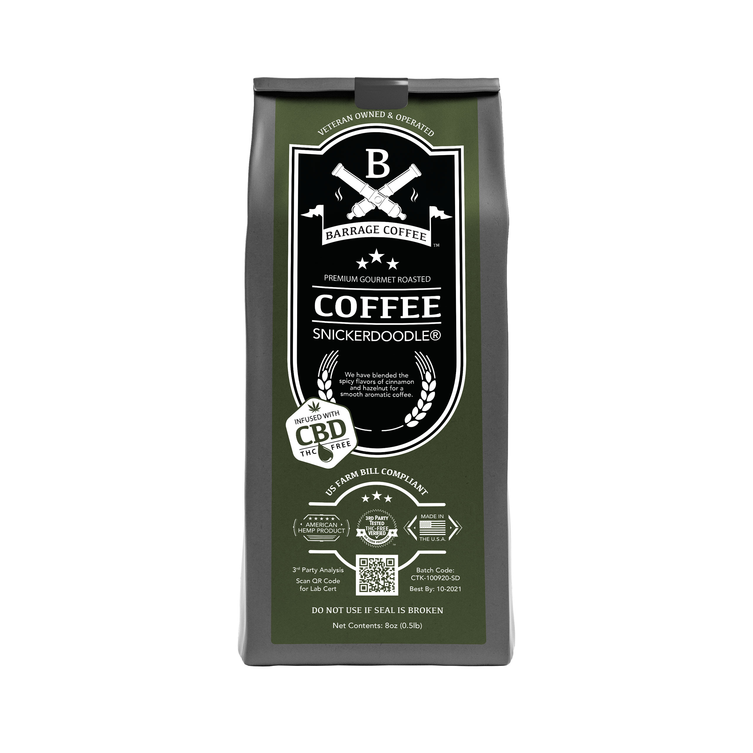 Barrage Coffee™ Snickerdoodle®  CBD Infused Coffee