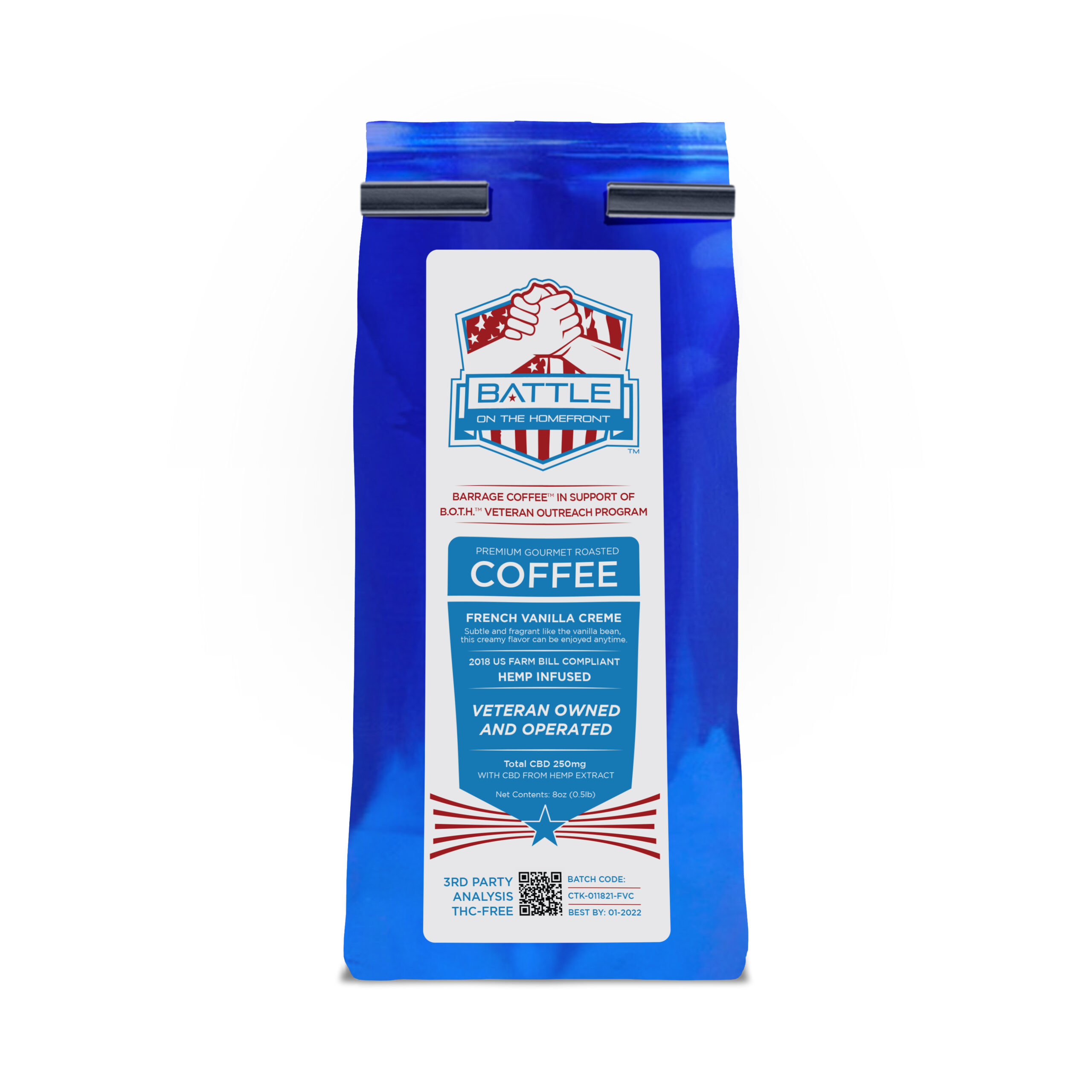 Barrage™  Battle On The Homefront French Vanilla Creme CBD Infused Coffee
