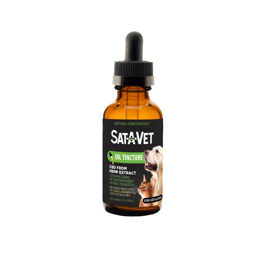 Sat-A-Vet™ Hemp Oil Tincture, Small Breed 30ml/250mg