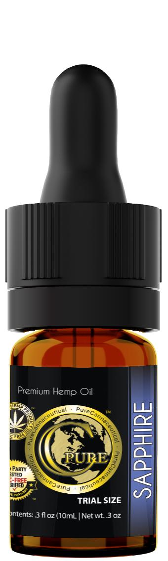 PCRX™ SAPPHIRE Hemp Oil Tincture, 10mL 10mg/mL, Trial Size