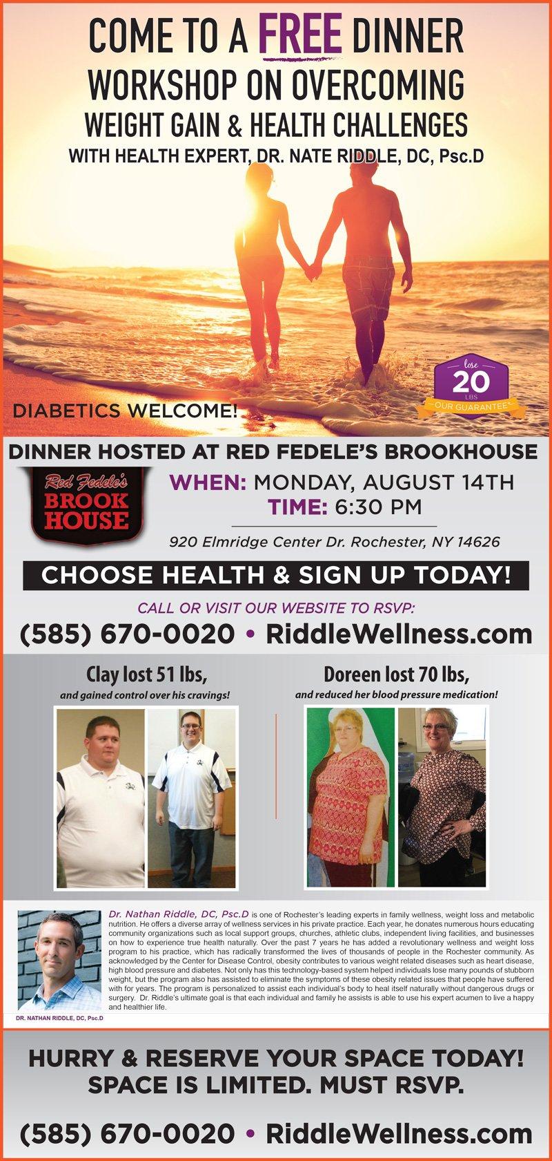 Free Dinner August 14 2017