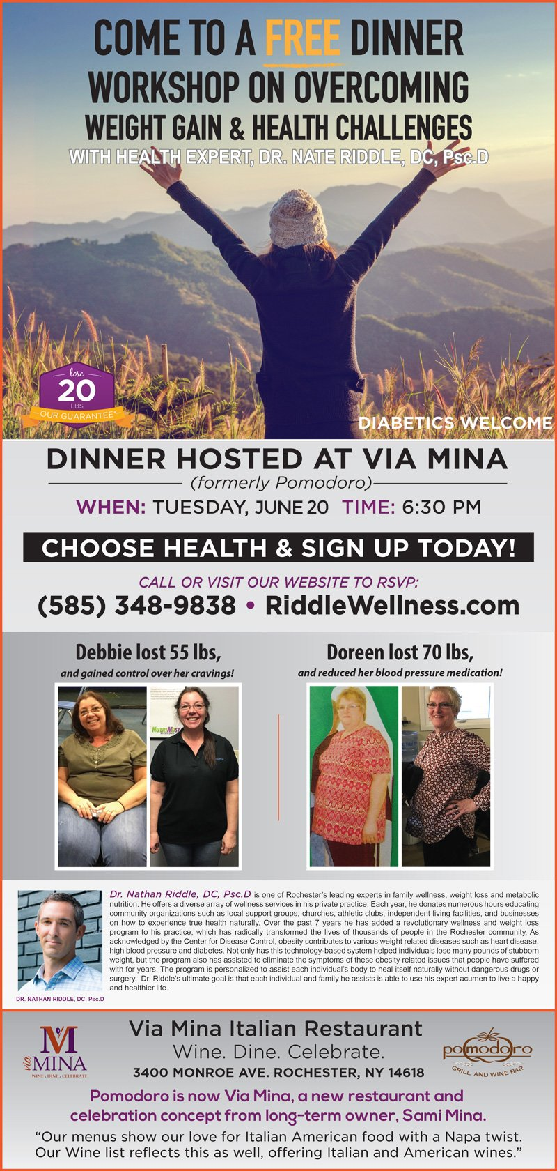Free Dinner June 20, 2017