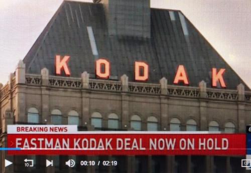 DFC says Kodak deal on hold