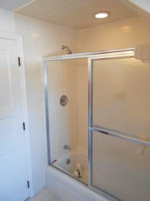 shower after wall addition
