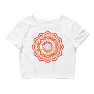 Turmeric Rose Women's Crop Tee