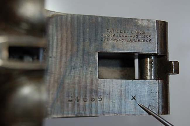 Grade Stamp and Serial Number Location on the Action