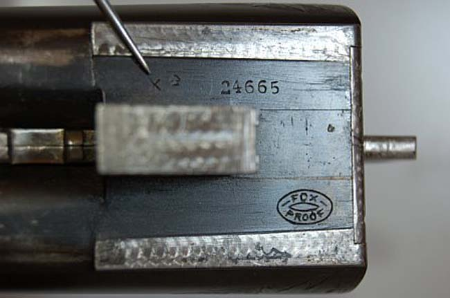 Grade Stamp and Serial Number Location on the Barrel Flat