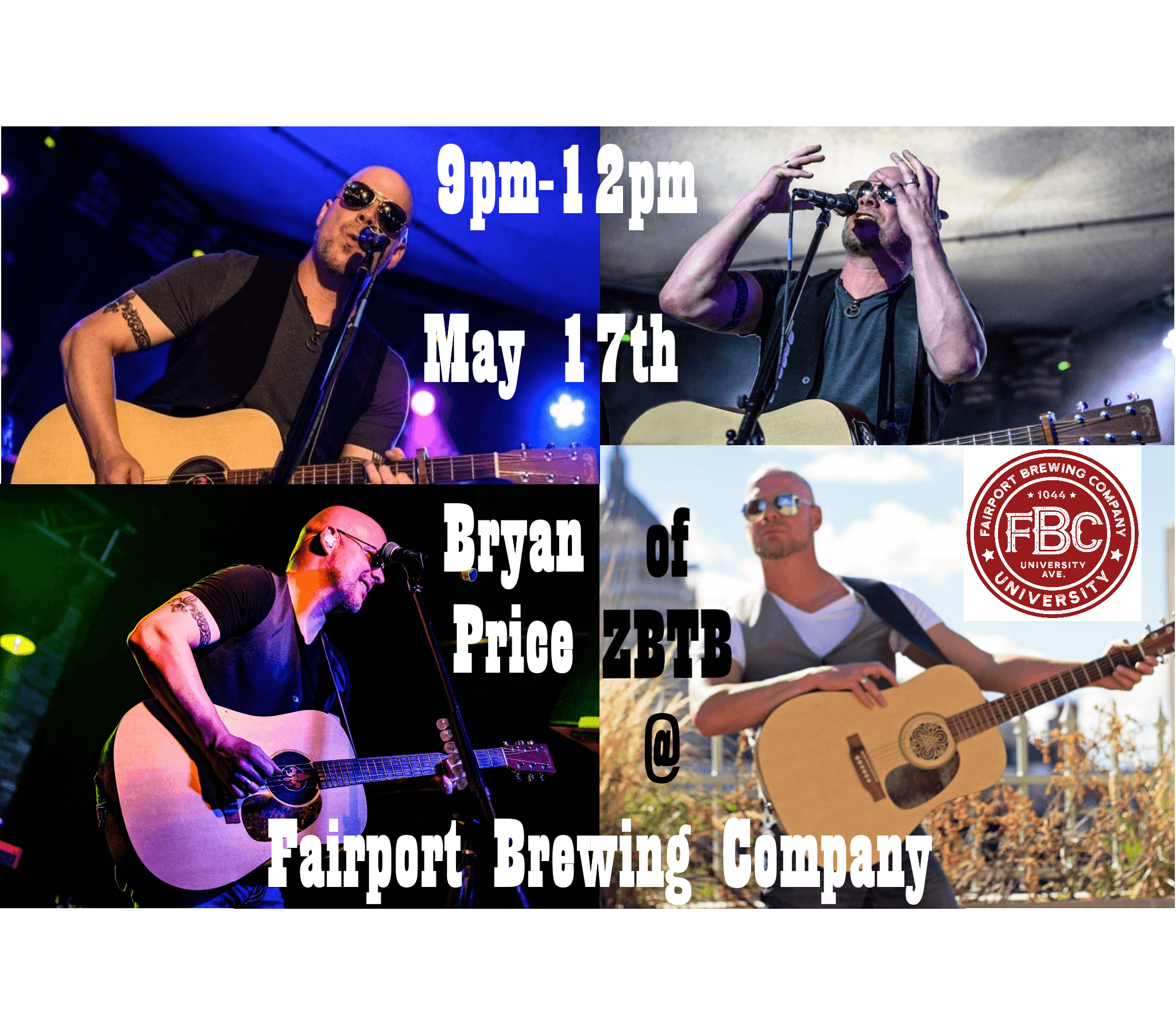 Bryan Price of Zac Brown Tribute Band 5/17 @ FBCU