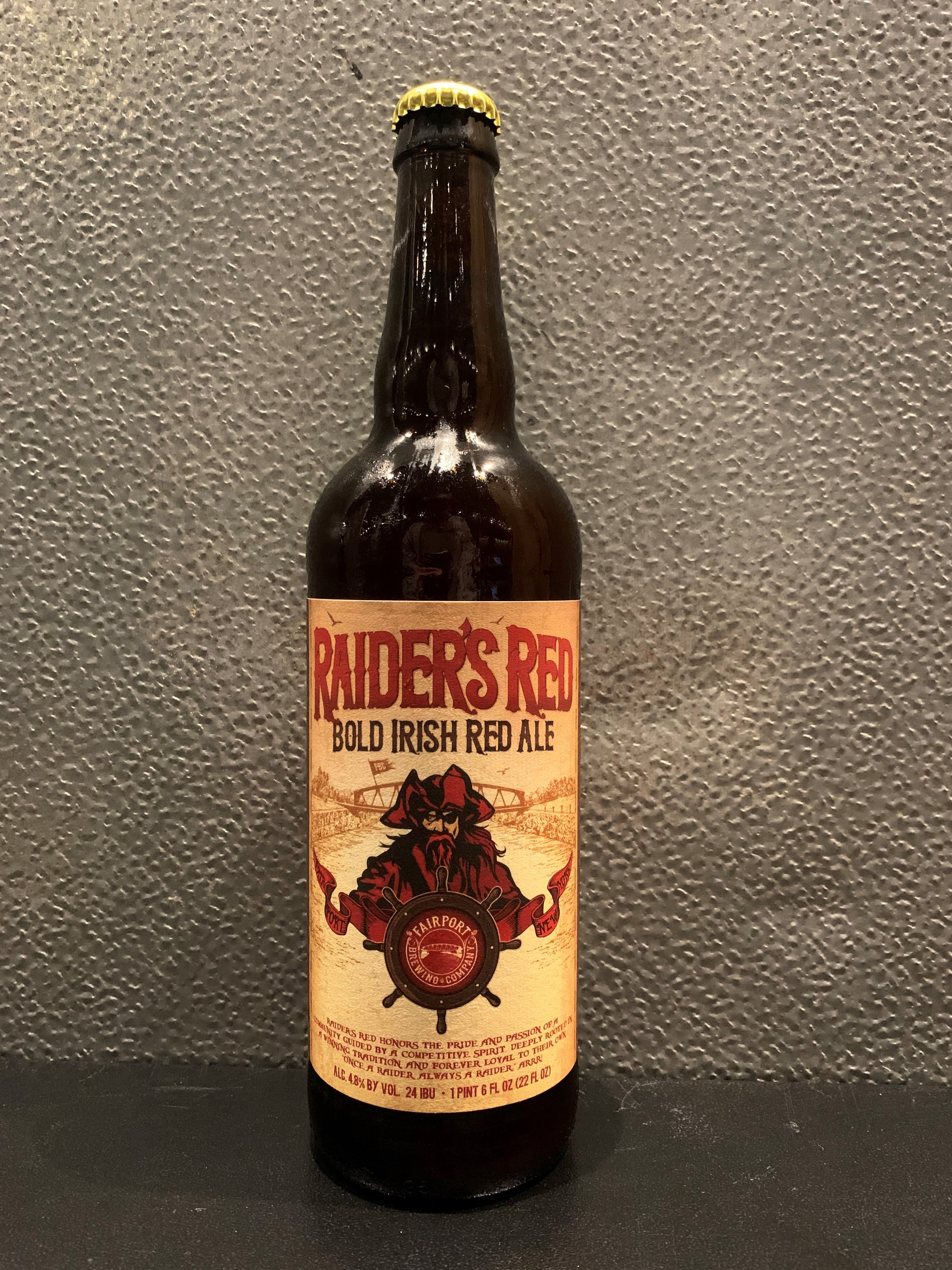 Two Raiders' Red 22oz Bottles