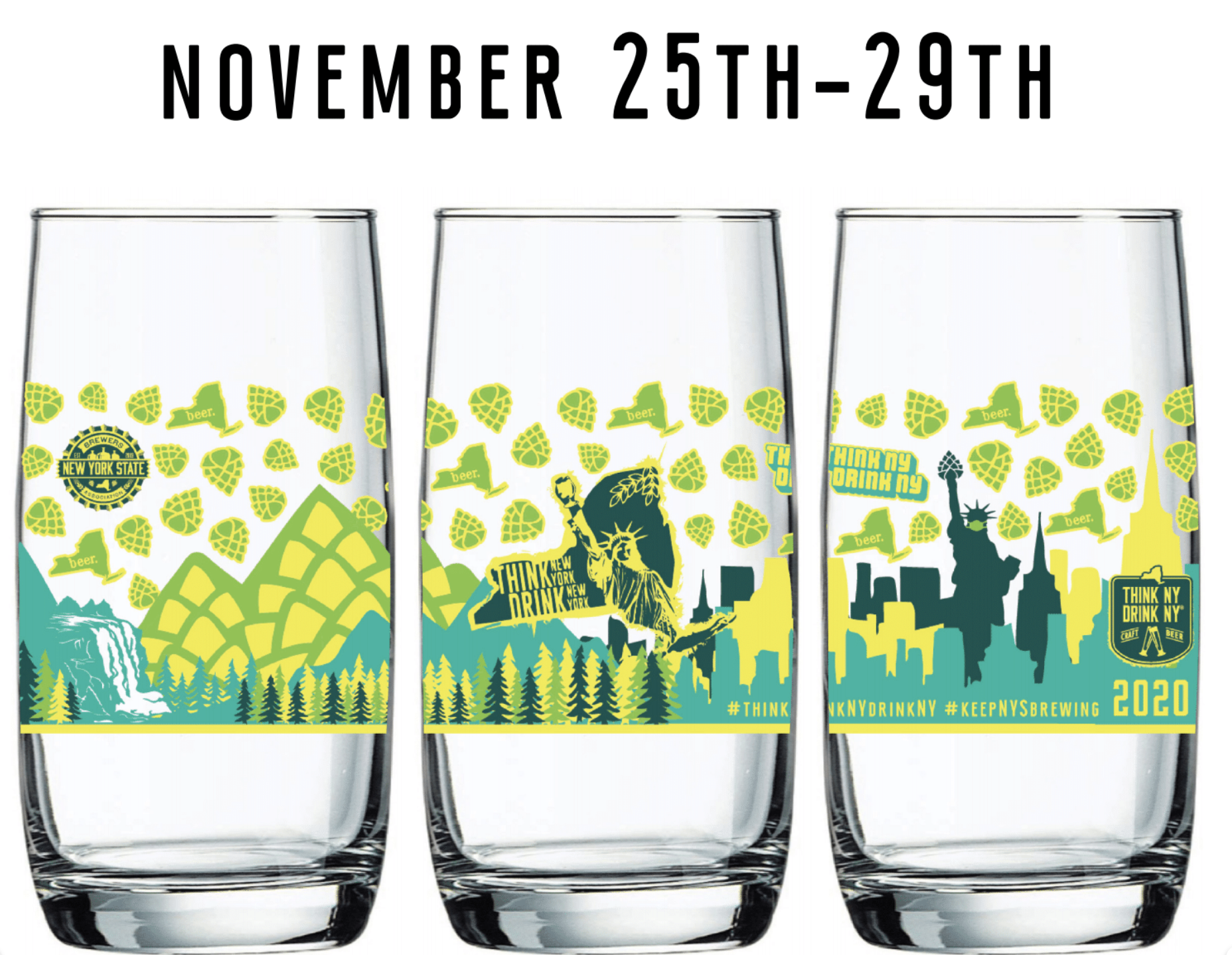 Pre-Sale 1st Annual NYS Pint Days Collectors Pint Glass and 1st Pour