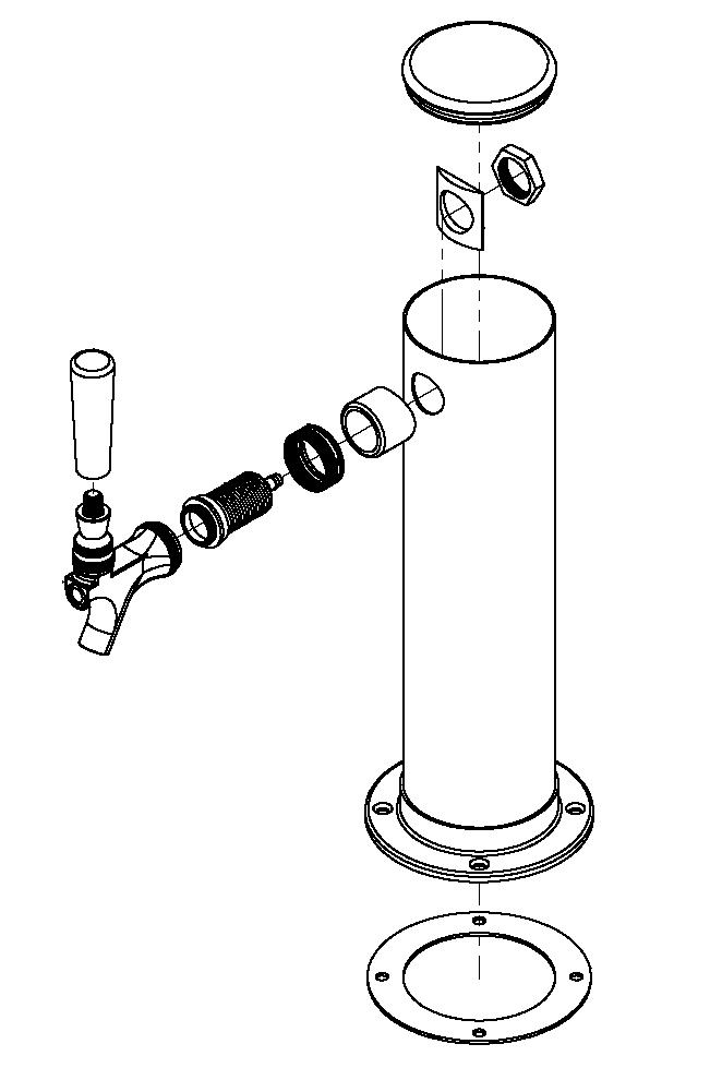 Tower Lock Nut