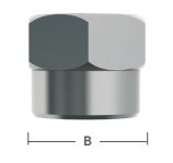 "3/8"" S/S Female Flare Cap Nut"