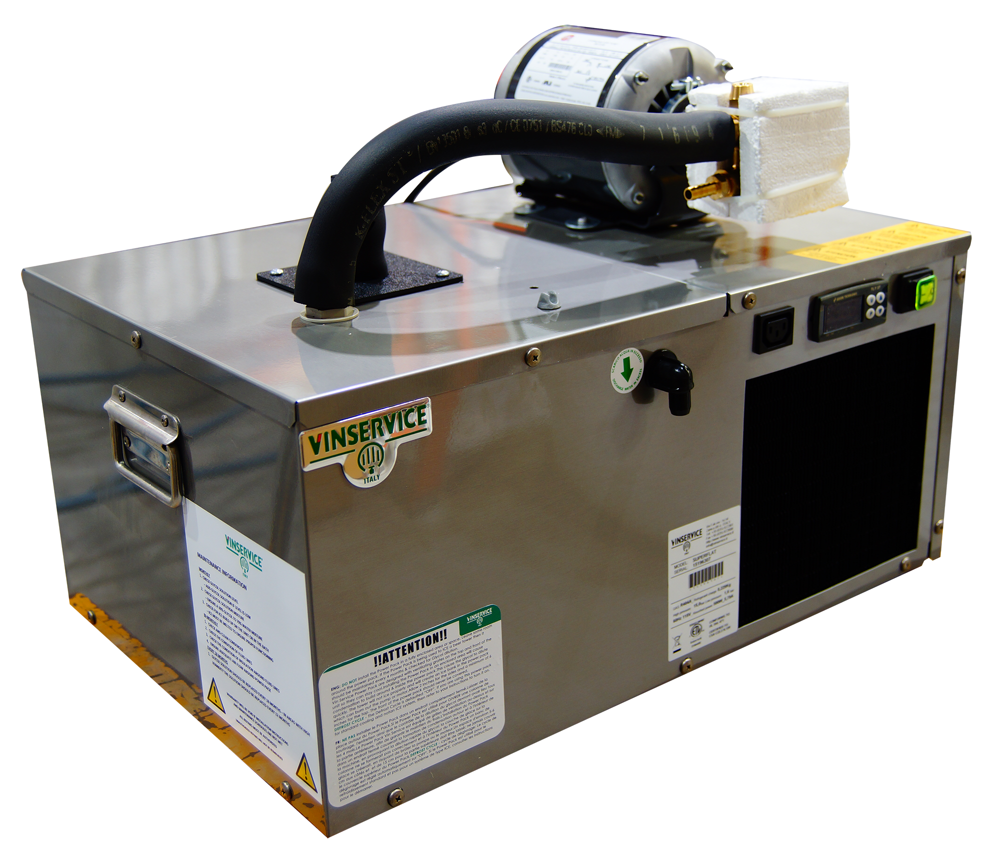 Vin Service Glycol Power Pack - 1/2 HP Super Flat Ultra w/ Pump and Motor 75' Length - 2800 BTU