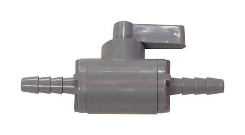 "1/4"" Barb In-line PVC Shut-off For Gas Or Liquid"