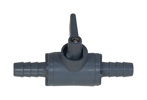 "3/8"" Barb In-line PVC Shut-off For Gas Or Liquid"