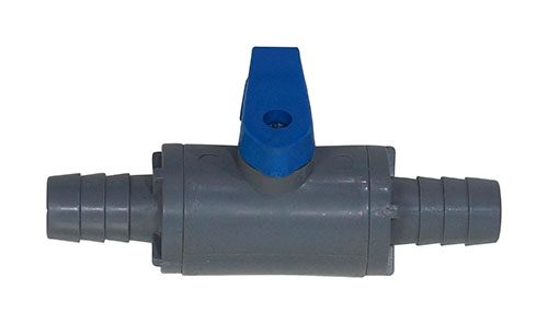 """1/2"""" Barb In-line PVC Shut-off For Gas Or Liquid"""
