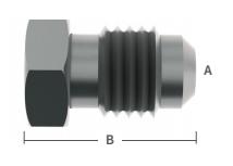 "3/8"" S/S Male Flare Plug"