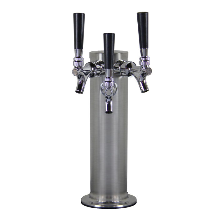 """3"""" S/S Triple Faucet Tower (Glycol Ready)"""