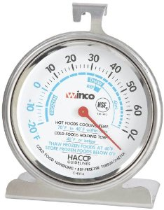 Refrigerator/Freezer Dial Thermometer with Hanging Clip (-20°F - 70°F)