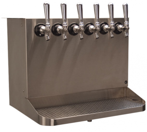 Underbar Tapping Cabinet; Air Shaft Ready, With Faucets, Shanks & Tubing