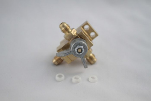 """Changeover Valve Assembly For Co2 Or N2 Tanks (3/8"""" OD Barbs)"""