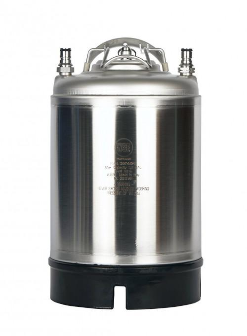 A.E.B. S/S 2.5 Gallon Ball Lock Product Tank