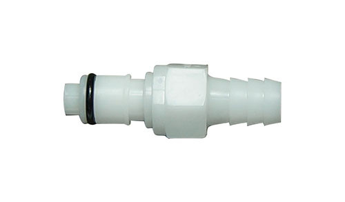 """Quick Disconnect with Shut-off -  3/8"""" ID Hose Barb Insert-Male"""