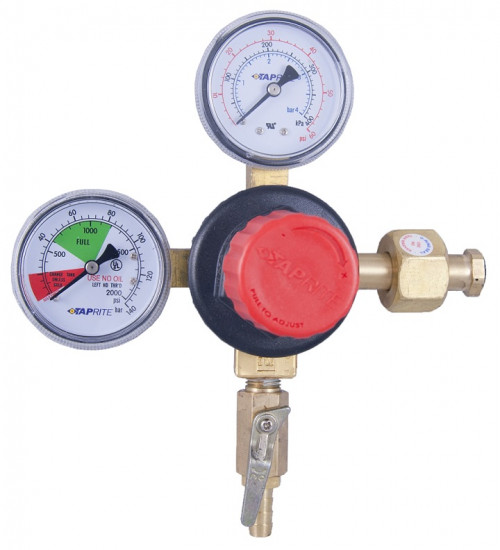 Taprite 0-60 PSI Polycarbonate Double Gauge Co2 Regulator