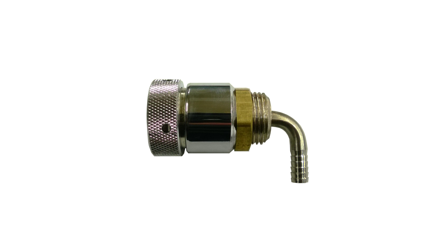 """1-3/4"""" Tower Shank Assembly With 3/16"""" Barbed Elbow And Straight Chrome Sleeve"""