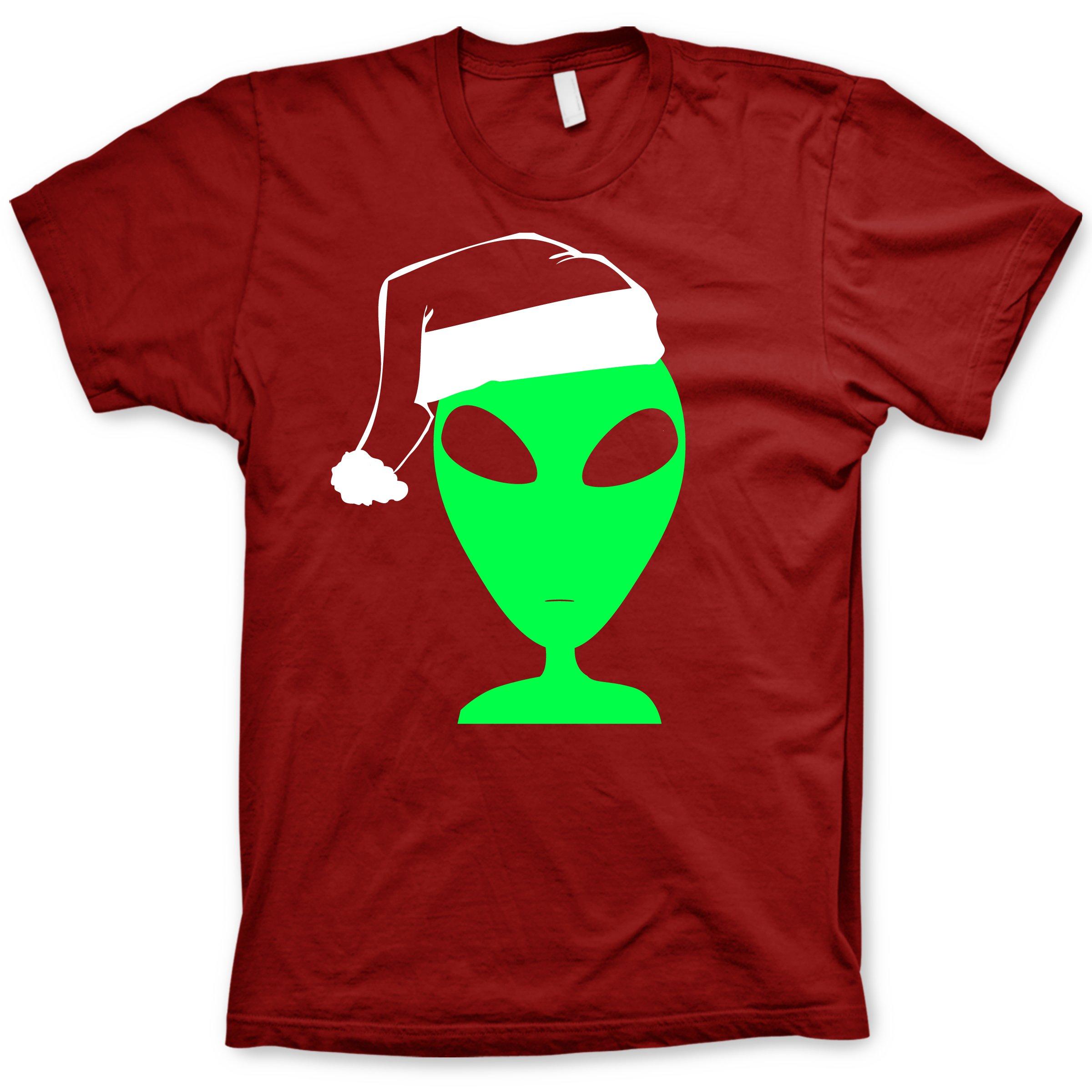 Alien Santa Hat T-Shirt