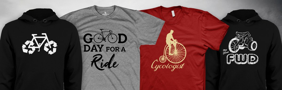 Biking and Cycling Apparel and T-Shirts