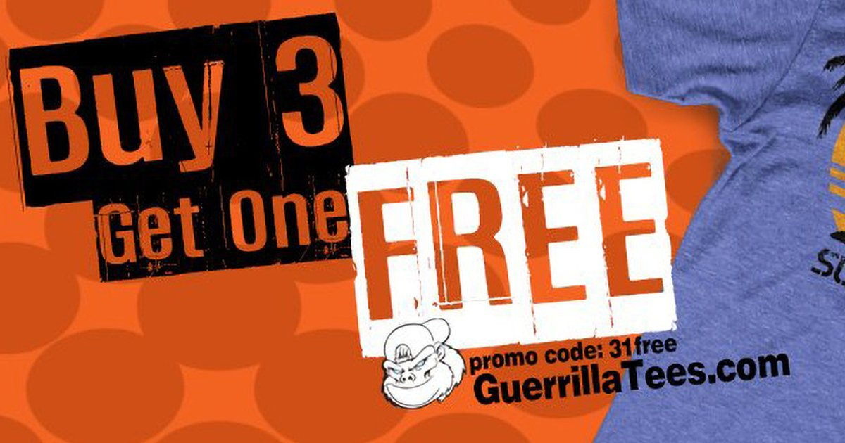 Buy 3 get 1 free from now until Thanksgiving