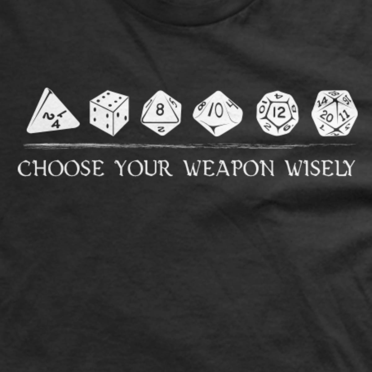 bac0aeee Dungeons and Dragons T-Shirt | Choose Your Weapon DnD