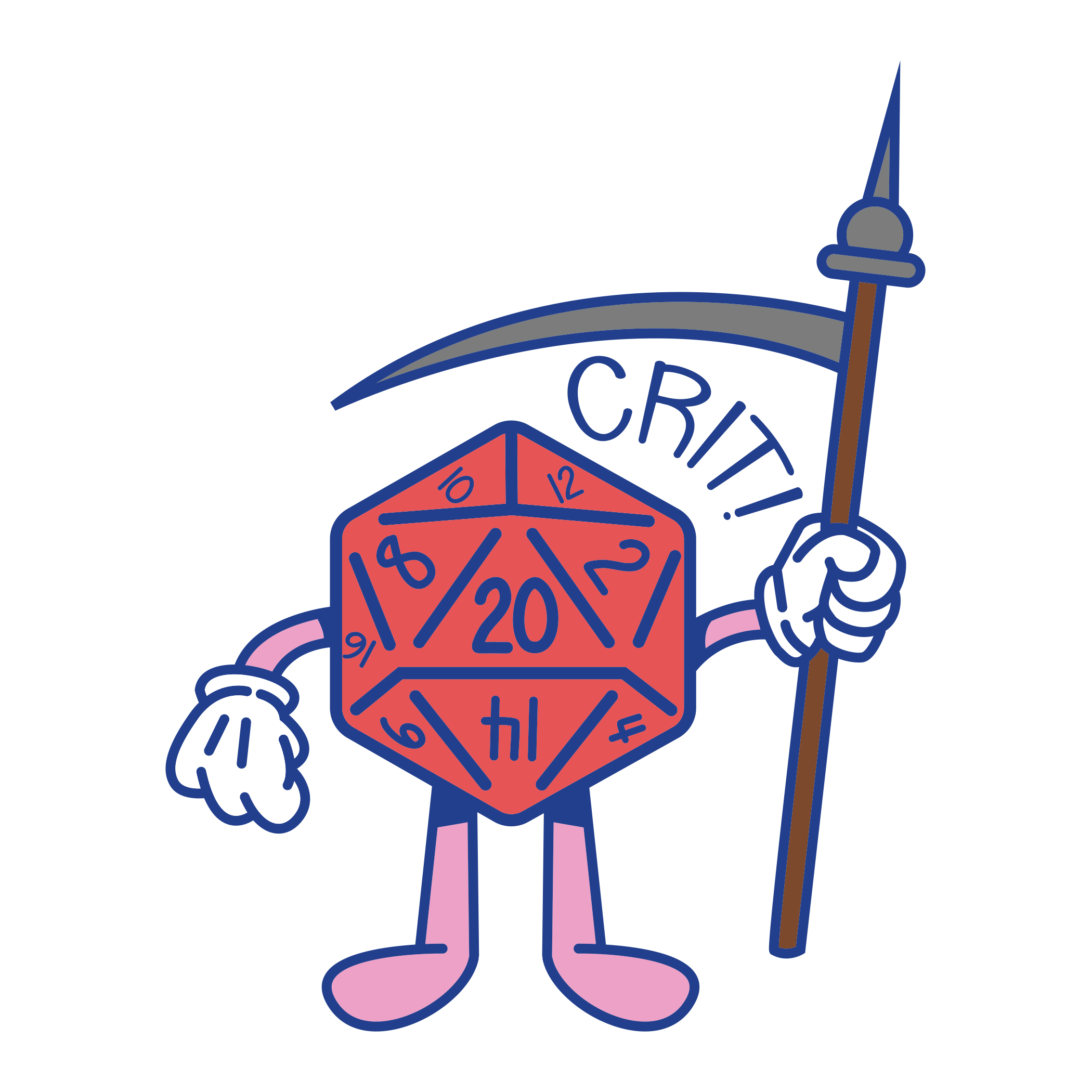 D20 D&D Sticker
