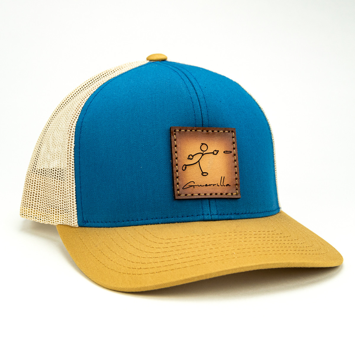 Stick Man Disc Golf Leather Patch Hat