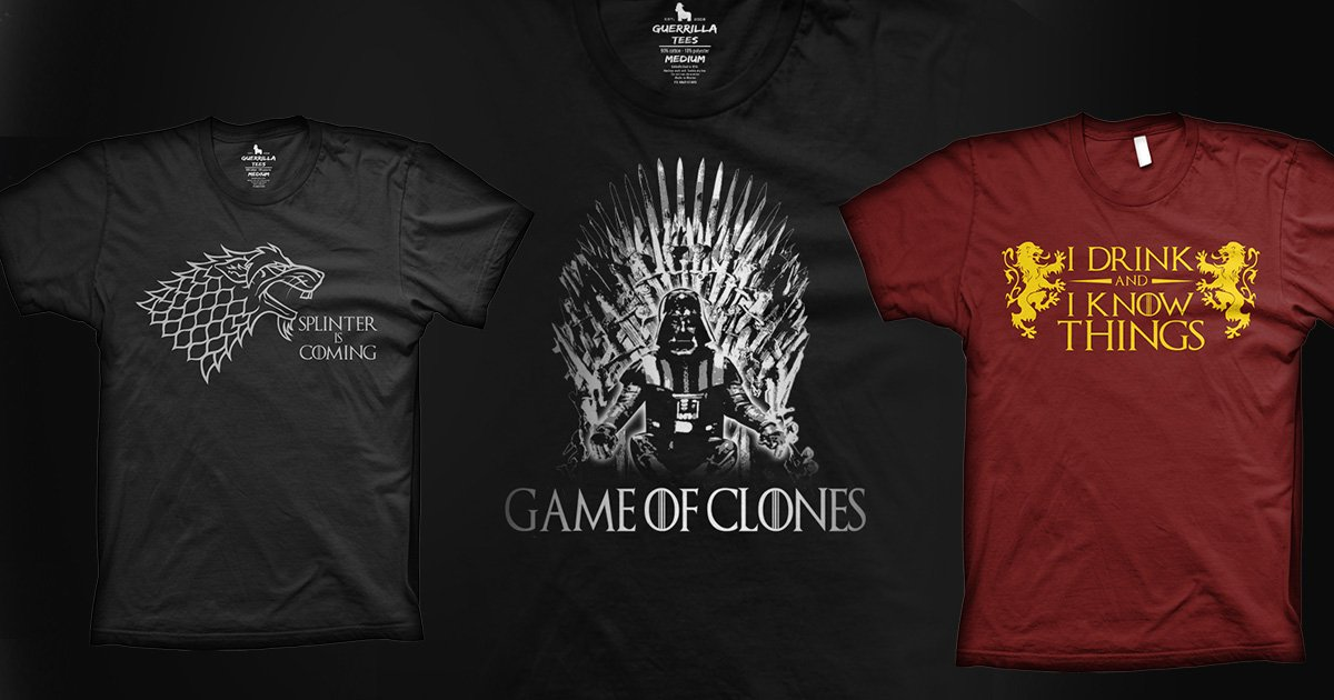 Our Newest Game of Thrones Graphic Tee Shirts