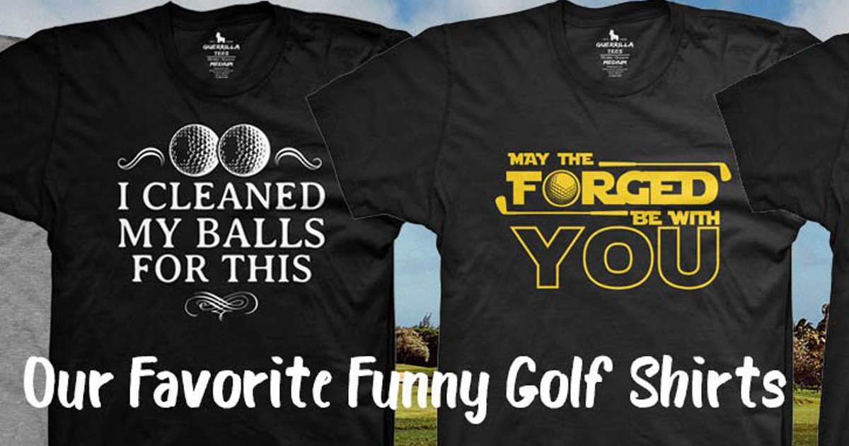 7 of Our Favorite Funny Golf Shirts