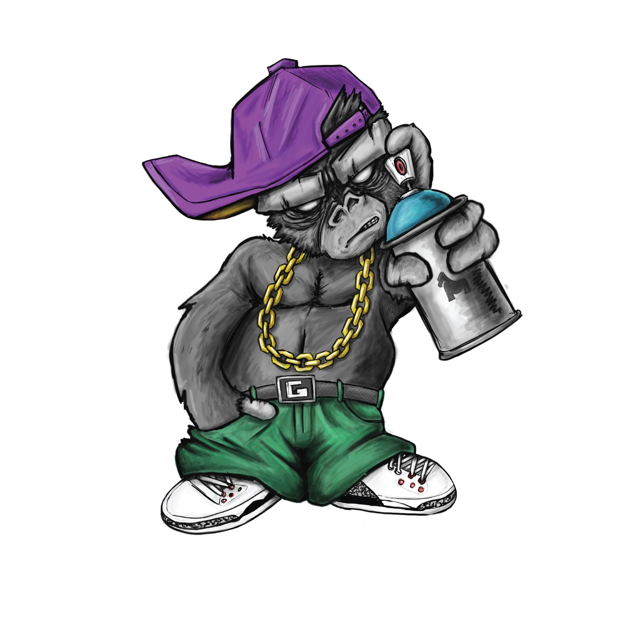 Gorilla Graffiti Sticker
