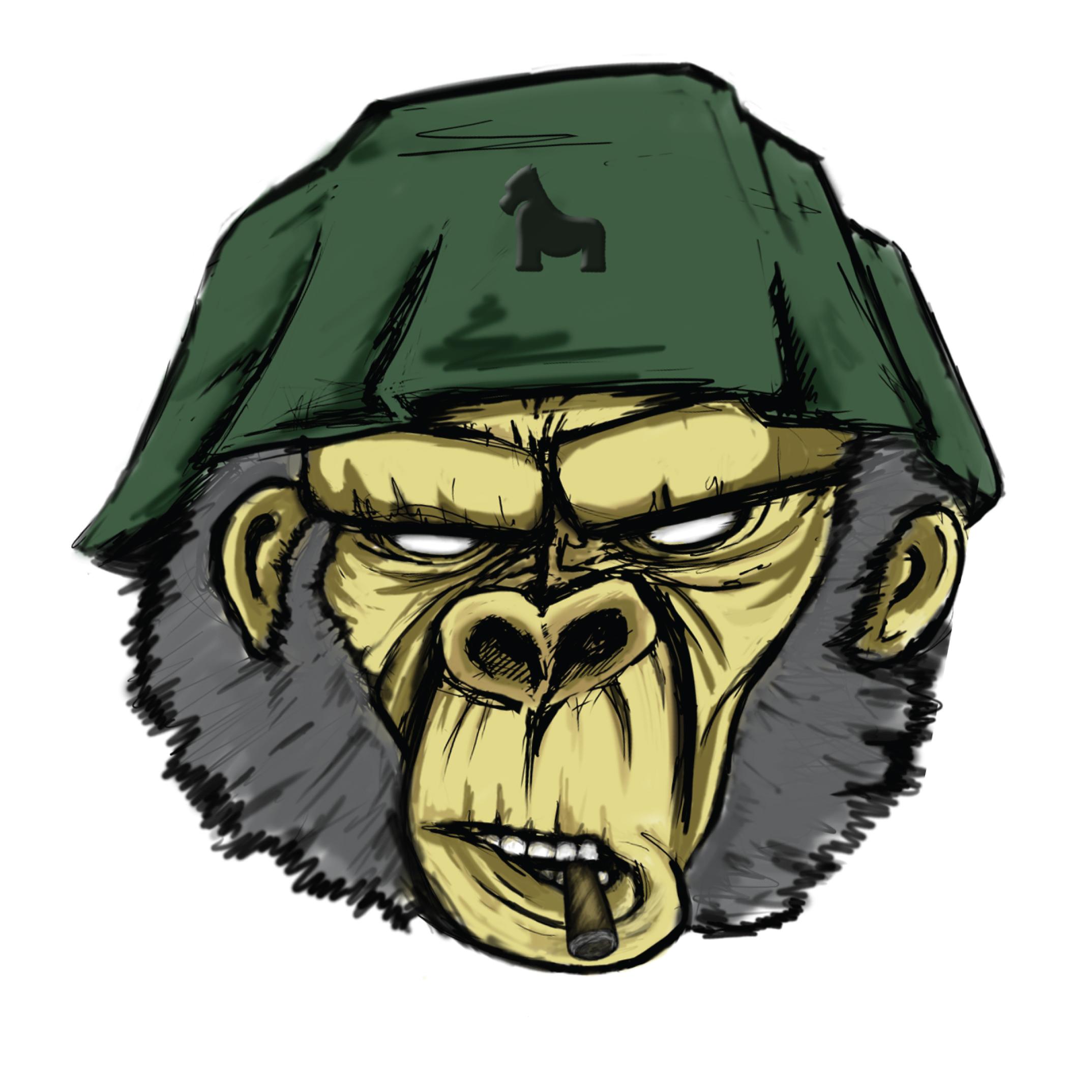 Gorilla With Attitude Sticker