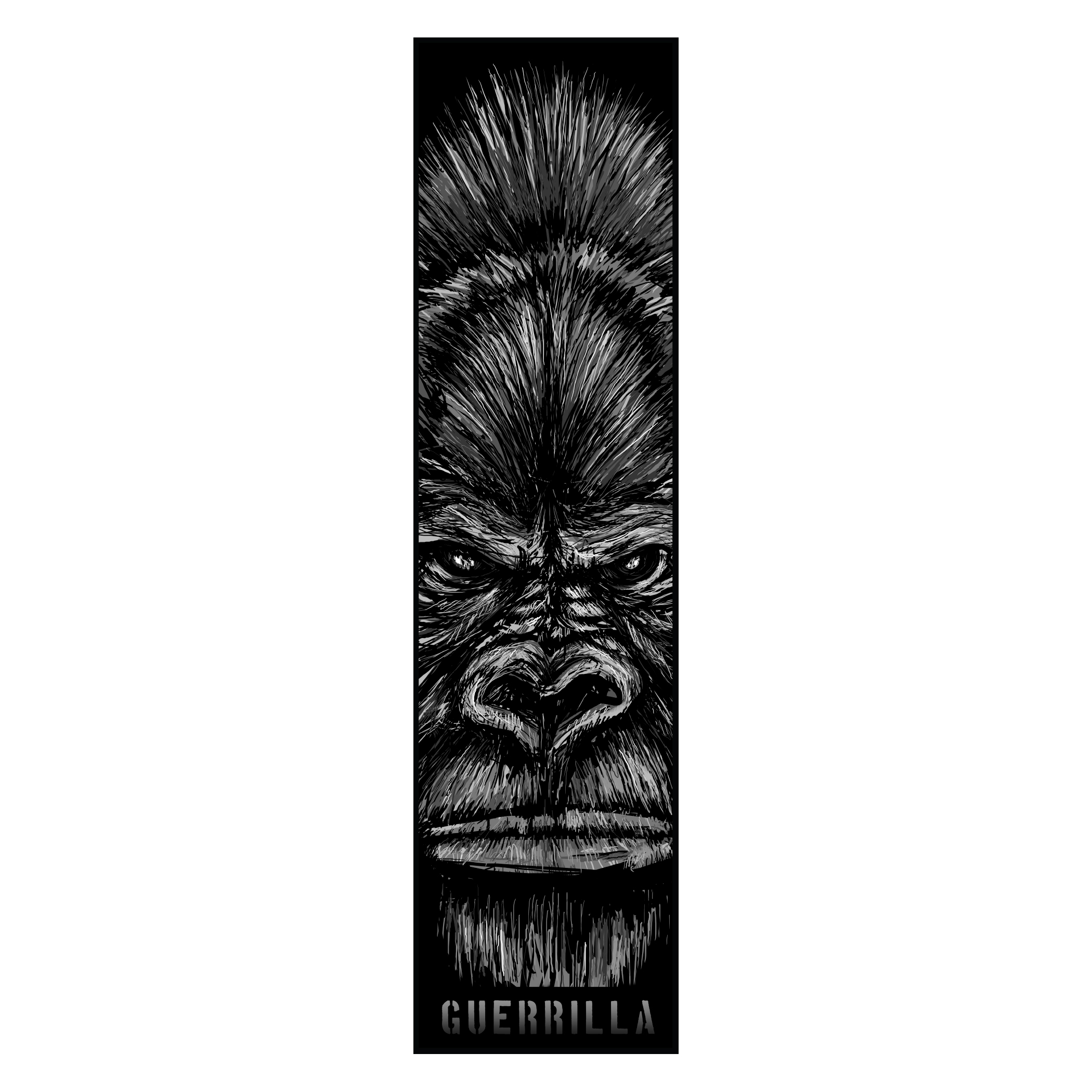 Gorilla Vertical Sticker