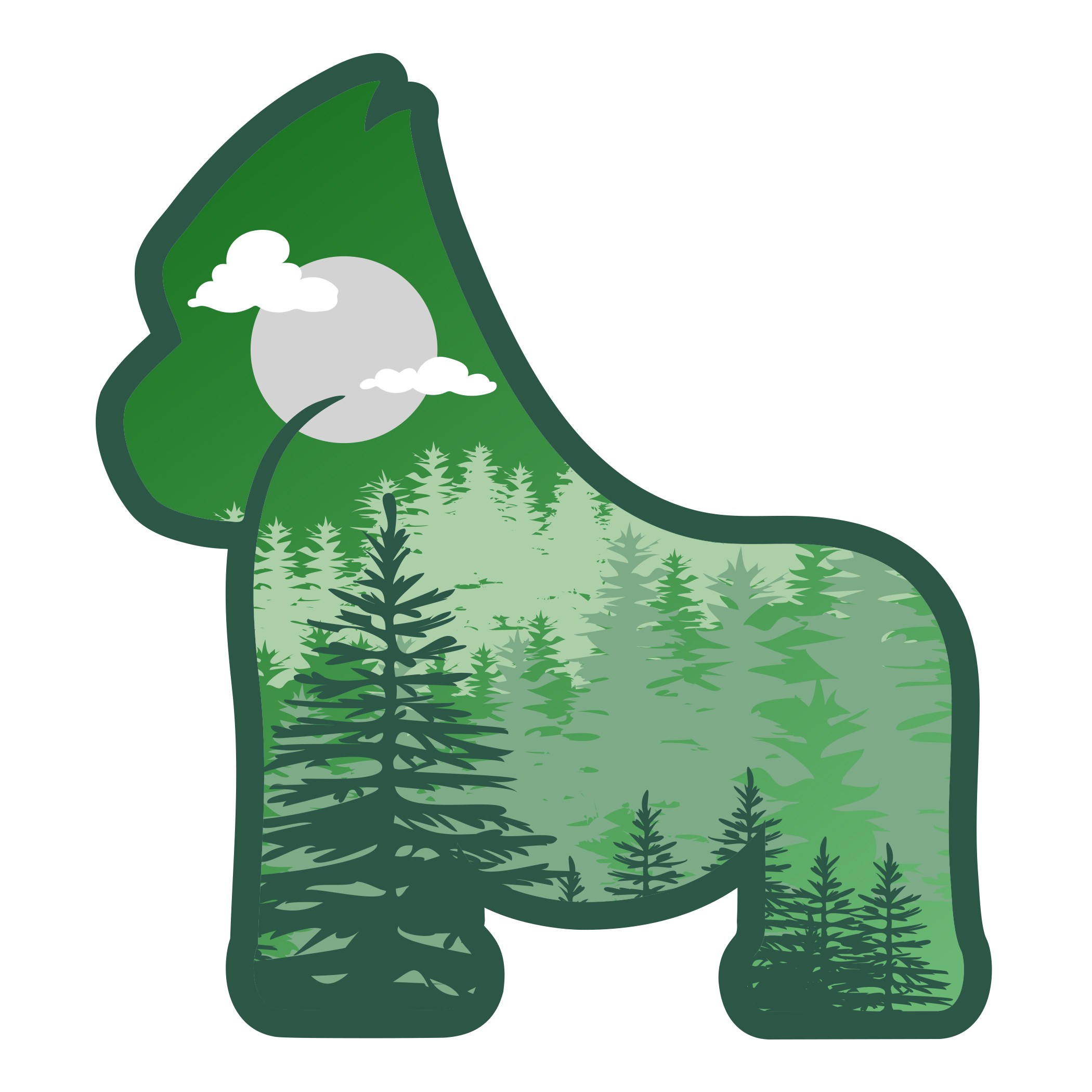 Gorilla Forest Sticker