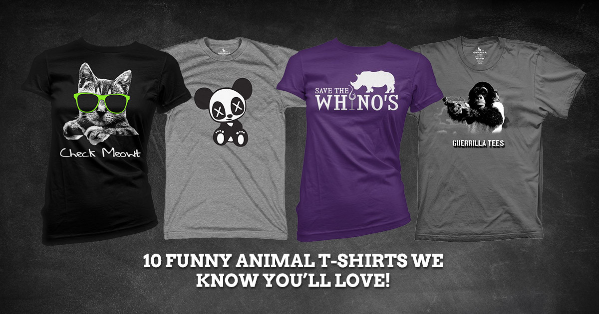 10 Adorably Funny Animal Graphic Tee Shirts