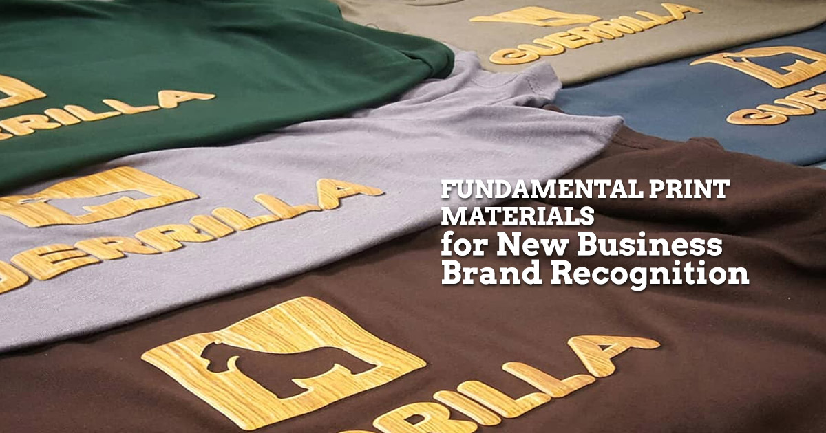 Fundamental Print Materials for New Business Brand Recognition