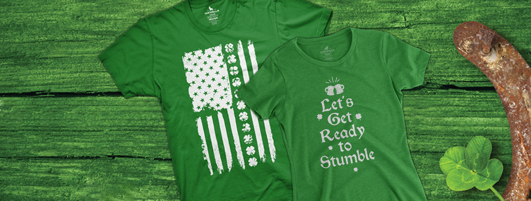 Lucky Looks for your Whole Family.  Shop our St. Patrick's Day Collection | Guerrilla Tees
