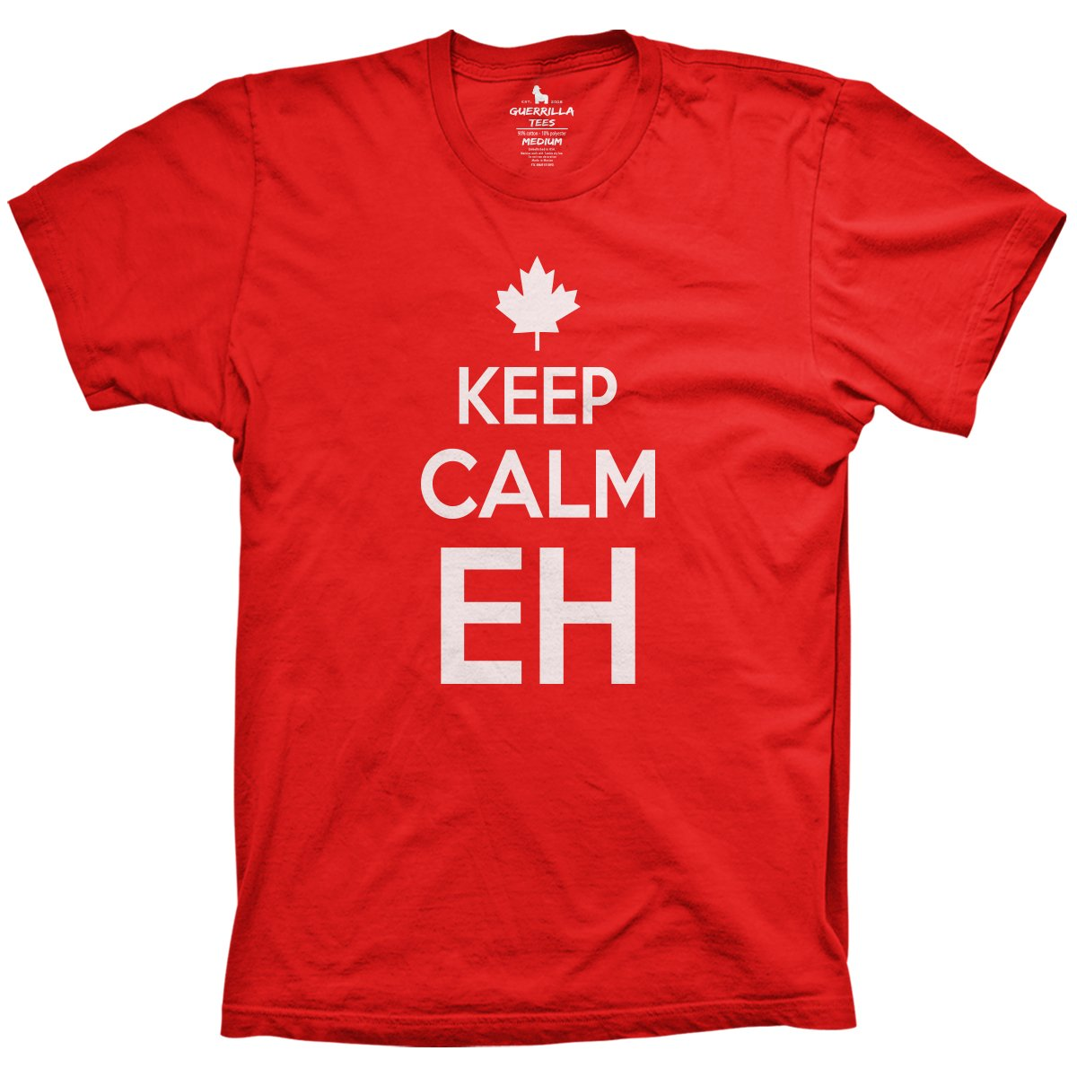 Funny Graphic Casual T-Shirts for Men /& Women Keep Calm Eh