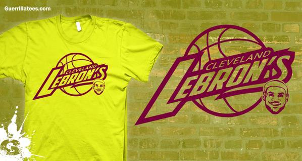 Cleveland Lebrons tshirt