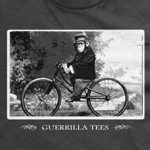 Guerrilla Tees Monkey on a Bike t-shirt