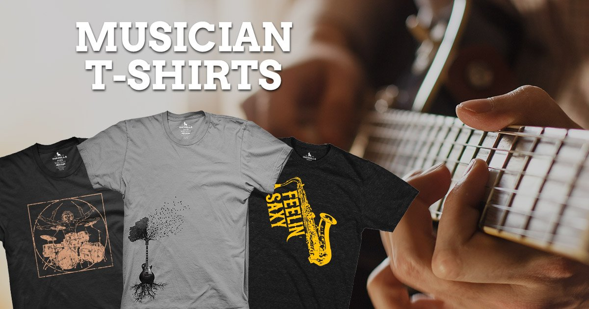 7 Cool Graphic Tees for Musicians and Music Fans!